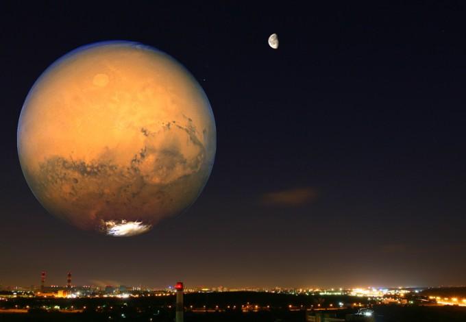 Луна иМарс сольются водну точку— Ученые предупреждают