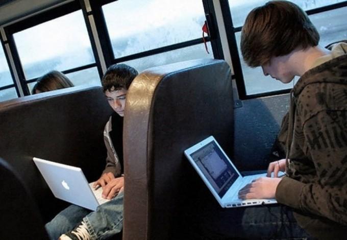 Вавтобусах появится бесплатный Wi-Fi