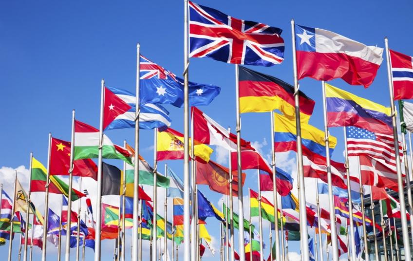 английский язык в разных частях света