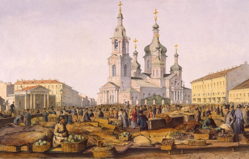 perrot view of sennaya square 1841 a52f9